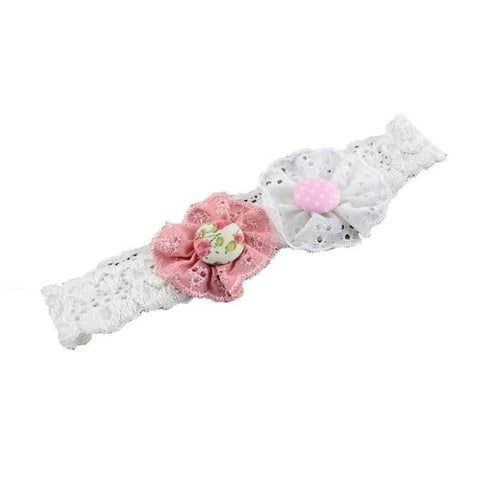 Pink Hippo Store Twin Flower hair band