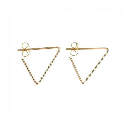 Pink Hippo Store Twist Triangle earrings