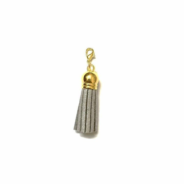 Pink Hippo Store Victory Tassel Gold Charm Grey