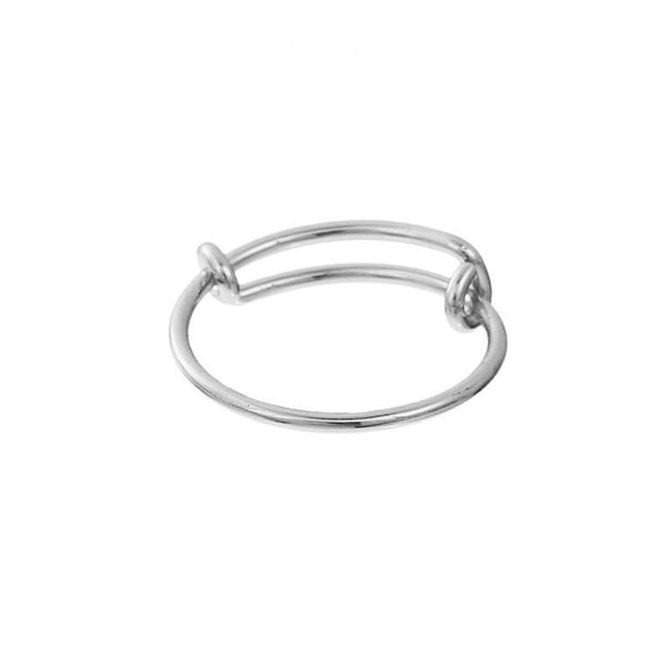Pink Hippo Store Wire Charm ring Silver