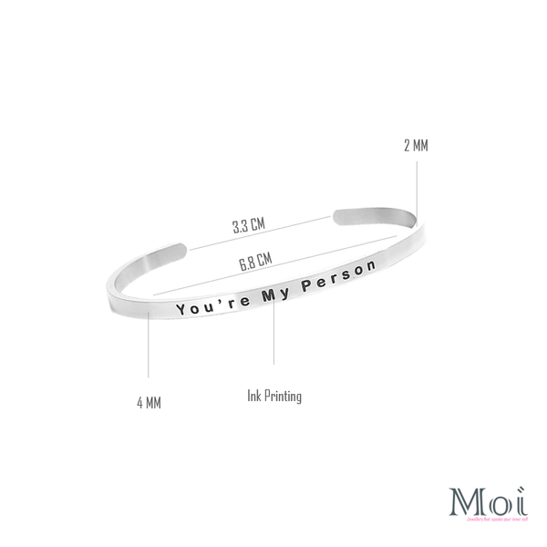 Pink Hippo Store You are Moi bracelet Silver