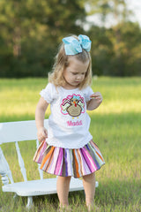Turkey Personalized Tee {Girl} - Little Miss Petals - 2