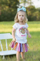 Turkey Personalized Tee {Girl} - Little Miss Petals - 1