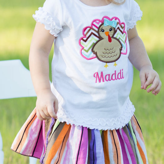 Turkey Personalized Tee {Girl}
