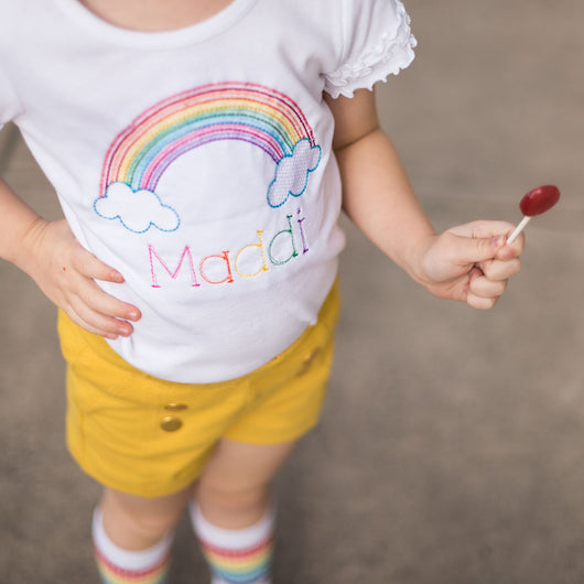 Personalized Rainbow Shirt