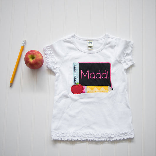 Personalized School Shirt | Chalkboard