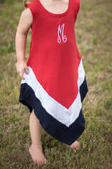 SALE | Red, White, & Blue Monogrammed Dress