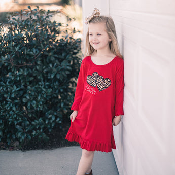 Personalized Double Heart Dress
