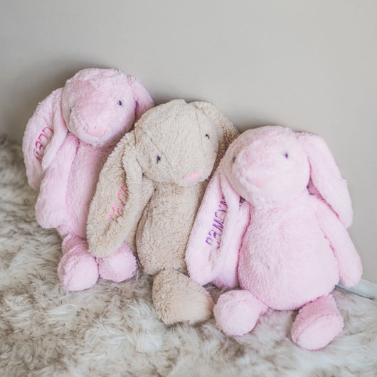 Personalized Plush Bunny | 4 colors