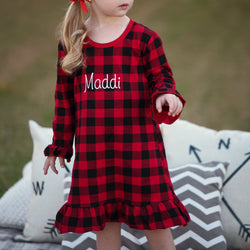 Personalized Plaid Nightgown | Kids