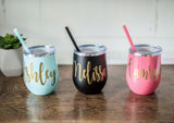 Personalized Wine Tumbler | 12 oz