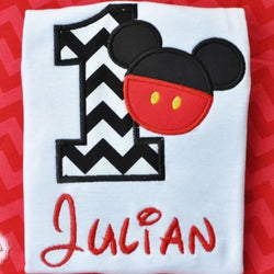 Mickey Birthday Shirt {Boy} - Little Miss Petals - 1
