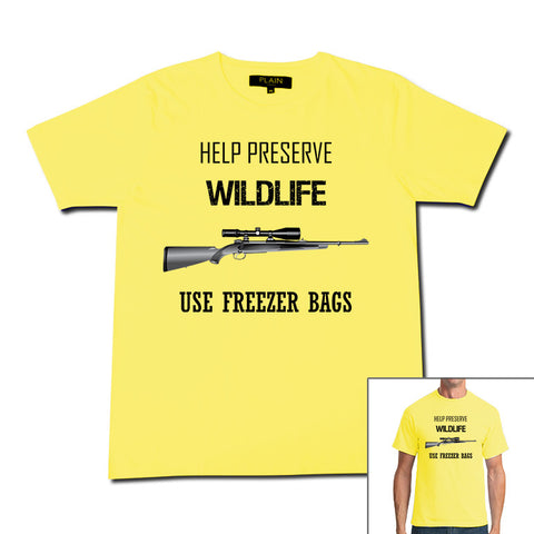 Printed T-Shirt Preserve Wildlife