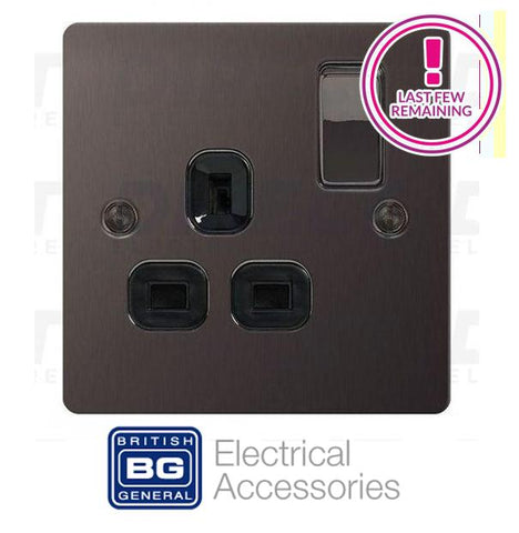 BG Nexus Screwed Flat Plate - Black Nickel