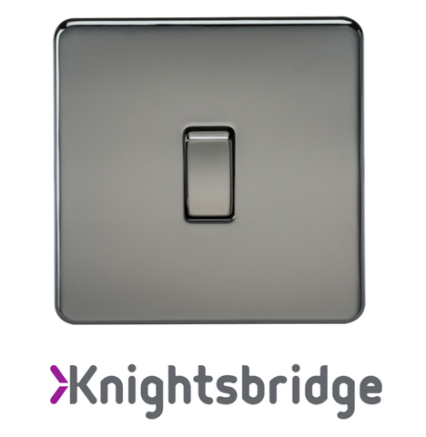 Knightsbridge Screwless Flat Plate Black Nickel