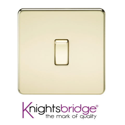 Knightsbridge Screwless Flat Plate Polished Brass