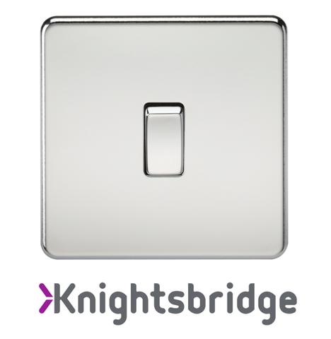 Knightsbridge Screwless Flat Plate Polished Chrome