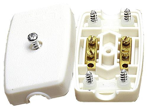 05110 - Flex Connector Solid 2 Core 5A Resilient White - Lampfix - sparks-warehouse