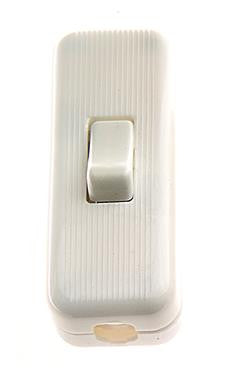 05290 - 3 Core Inline Switch Mini White 2A Snap Together - Lampfix - sparks-warehouse