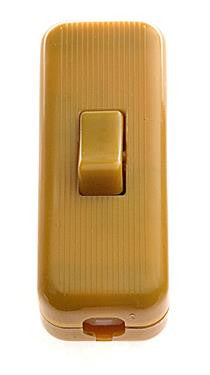 05292 - 3 Core Inline Switch Mini Gold 2A Snap Together - Lampfix - sparks-warehouse