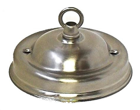 "05474 - Ceiling Hook-plate Large Brushed Chrome 4¼"" Ø - Lampfix - Sparks Warehouse"
