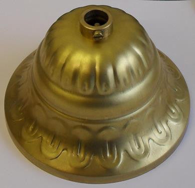 05504 - Decorative Brass Ceiling Cup with Securing Screw Height 58mm Ø90mm