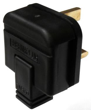 05538 - Plug 13A Resilient Black Extra Heavy Duty