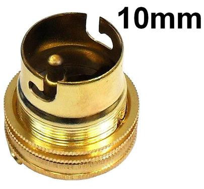 05712 - BC Lampholder 10mm Unswitched Brass