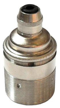 05974 - Continental Lampholder ES Nickel Threaded Skirt with Cordgrip - LampFix - sparks-warehouse
