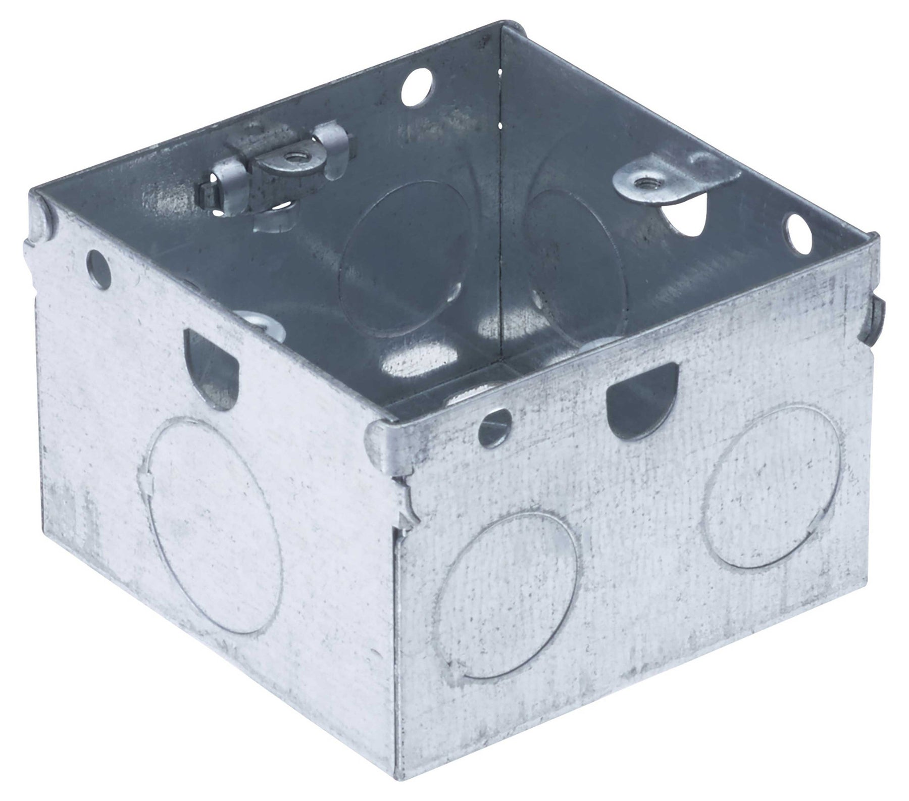 BG HGS06 METAL BOX 1 Gang 47MM GALVANISED PRESSED STEEL - BG - sparks-warehouse