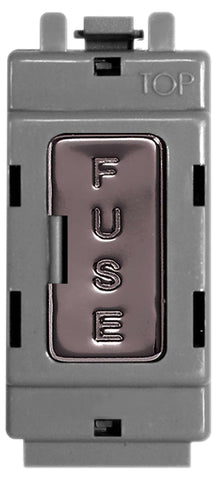 BG Nexus GBNFUSE Grid Black Nickel FUSE HOLDER Module 13A FUSE FITTED