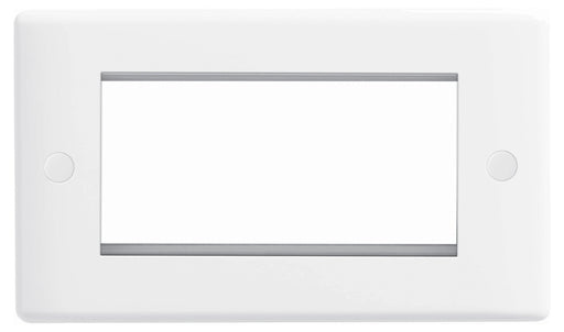 BG Nexus 8EMR4 Front Plate White Plastic 4 Module  Rectangular (100 X 50mm) - BG - sparks-warehouse