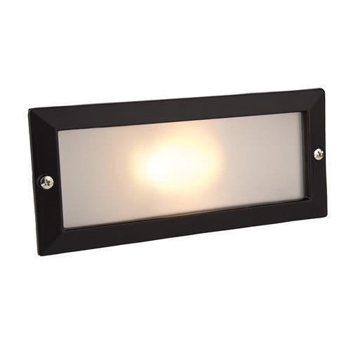 Firstlight 1120BK Brick Light - without Louvre - Black with Opal Glass - Firstlight - sparks-warehouse
