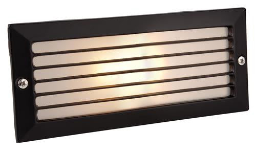 Firstlight 1121BK Brick Light - with Louvre - Black with Opal Glass - Firstlight - sparks-warehouse