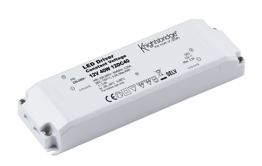 Knightsbridge 12DC40 12V 40W Constant Voltage LED Driver - Knightsbridge - sparks-warehouse