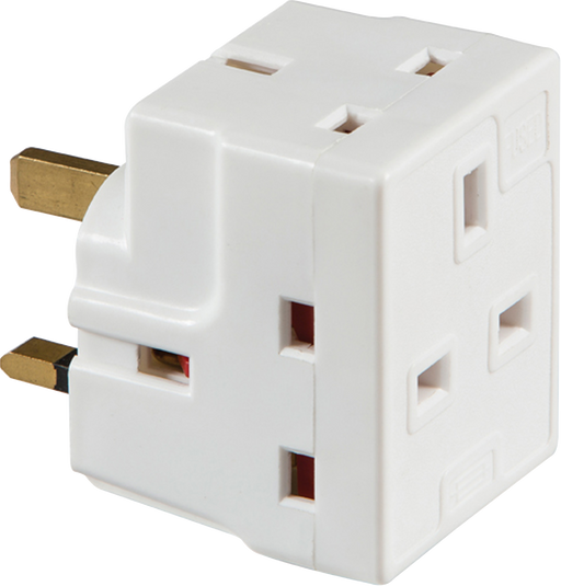 Knightsbridge 1375 13A 3 WAY MAINS ADAPTOR (FUSED) - Knightsbridge - sparks-warehouse