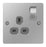 BG SBS21G Flat Plate Brushed Steel Single Gang Switched Socket - BG - sparks-warehouse