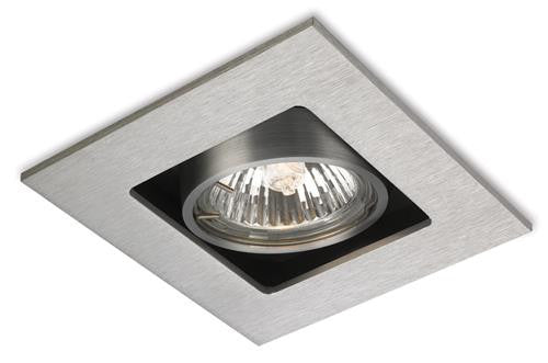 Firstlight 1500BS Cube 1 Light DownLight - Brushed Steel