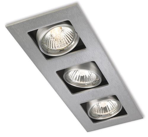 Firstlight 1502BS Cube 3 Light DownLight - Brushed Steel - Firstlight - sparks-warehouse