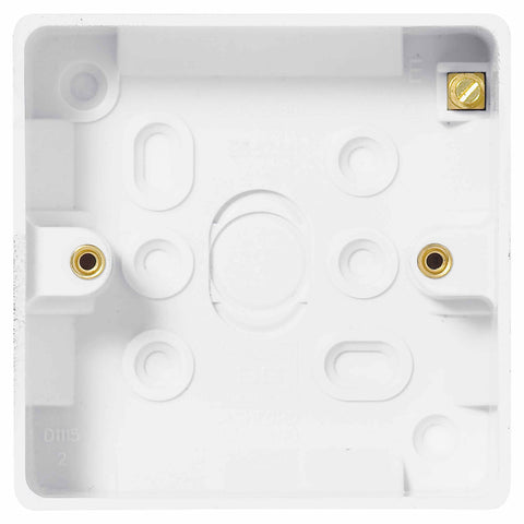 BG Nexus 893 1 Gang SQUARE Surface BOX 19MM