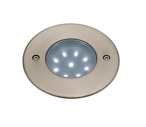 Firstlight 1806WH LED 90mm Walkover Light - Stainless Steel with White LED's
