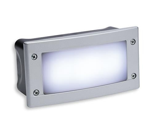 Firstlight 1811WH LED Wall & Step Light - Silver Frame with White LED's - Firstlight - sparks-warehouse