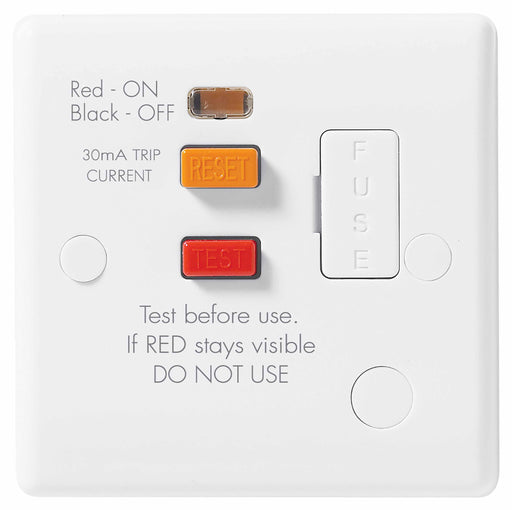 BG Nexus 855RCD Safety RCD Fused Spur With Flex Outlet - BG - sparks-warehouse