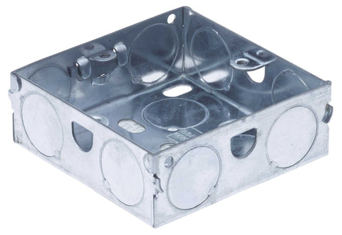 BG HGS02 METAL BOX 1 Gang 25MM GALVANISED PRESSED STEEL