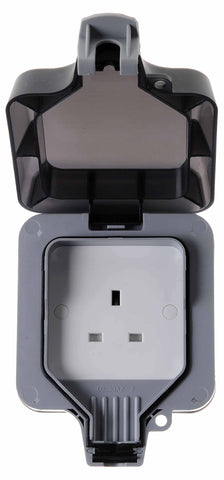 BG WP23 Weatherproof 13A 1 Gang Double Pole Unswitched Socket