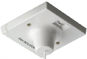 BG 804 10A Triple Pole Fan Isolator Ceiling Pull Switch White