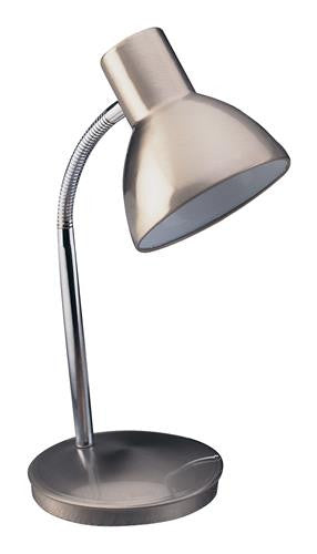 Firstlight 2163BS Harvard Table Lamp - Brushed Steel - Firstlight - sparks-warehouse