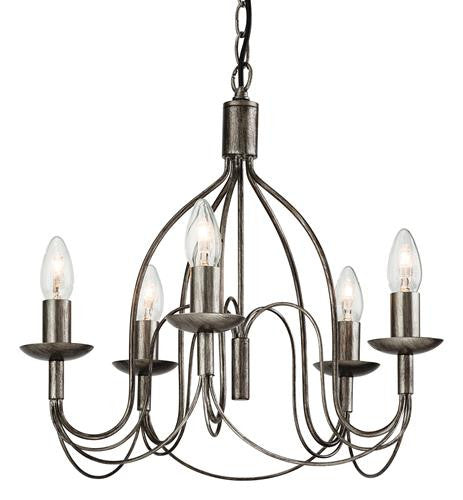 Firstlight 2317AS Regency 5 light Fitting - Antique Silver - Firstlight - sparks-warehouse