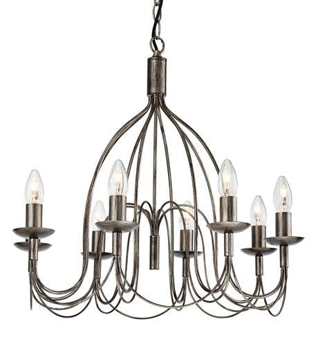 Firstlight 2318AS Regency 8 Light Fitting - Antique Silver - Firstlight - sparks-warehouse