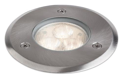 Firstlight 2337ST LED 230V 100mm Walkover Light - Stainless Steel
